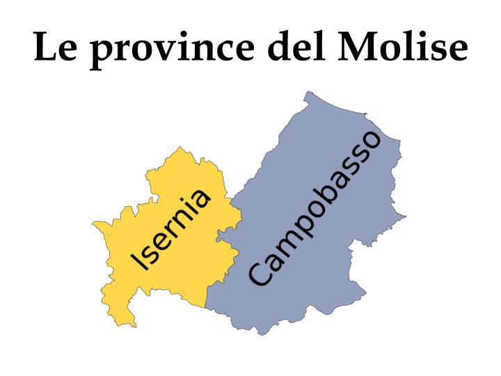 Le province del Molise