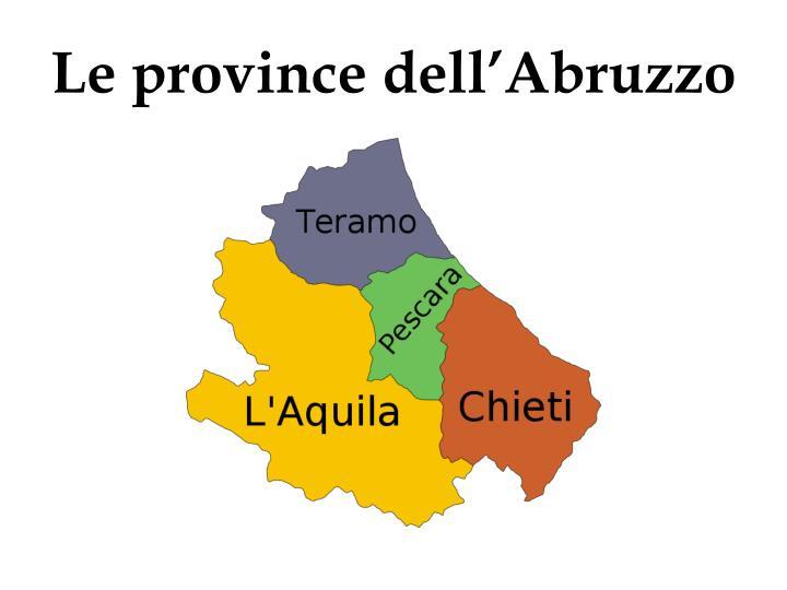 Le province dell'Abruzzo