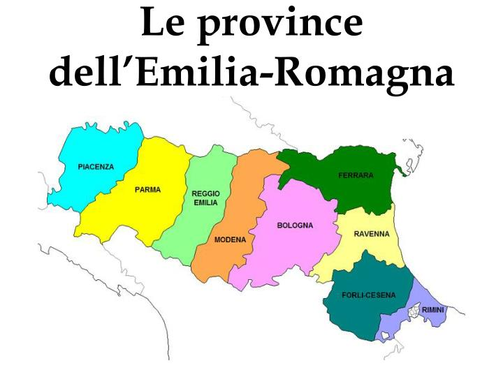 Le province dell'Emilia-Romagna