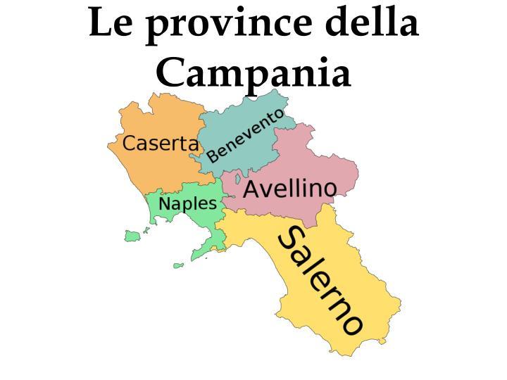 Le province della Campania