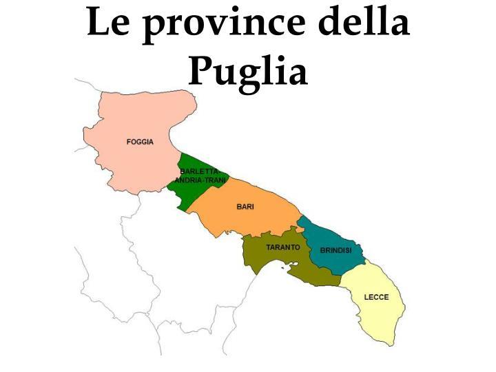 Le province della Puglia
