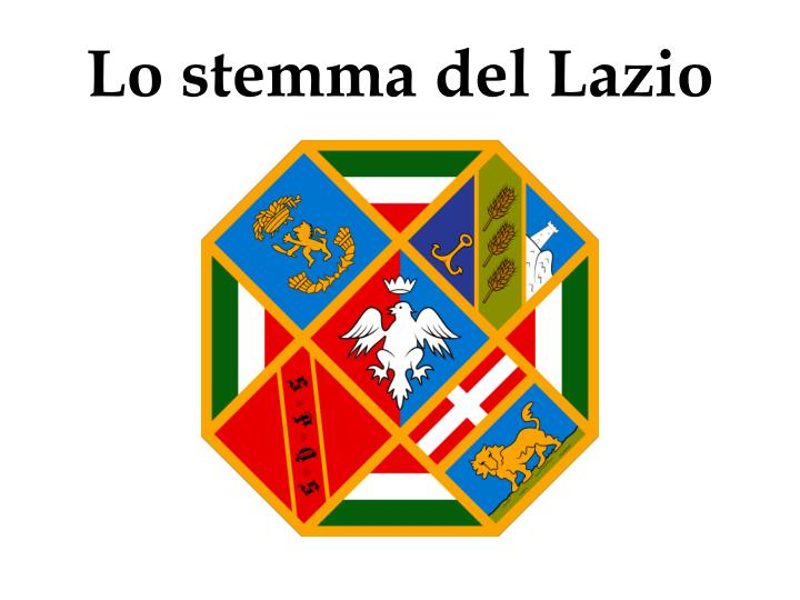 Lo stemma del Lazio
