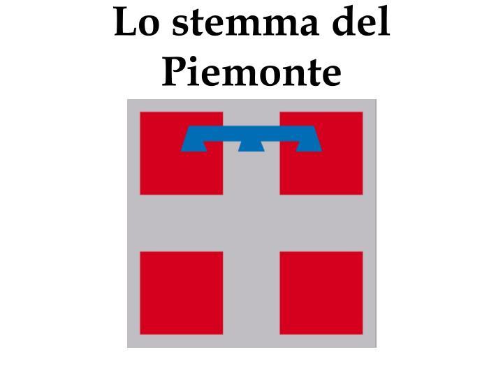 Lo stemma del Piemonte