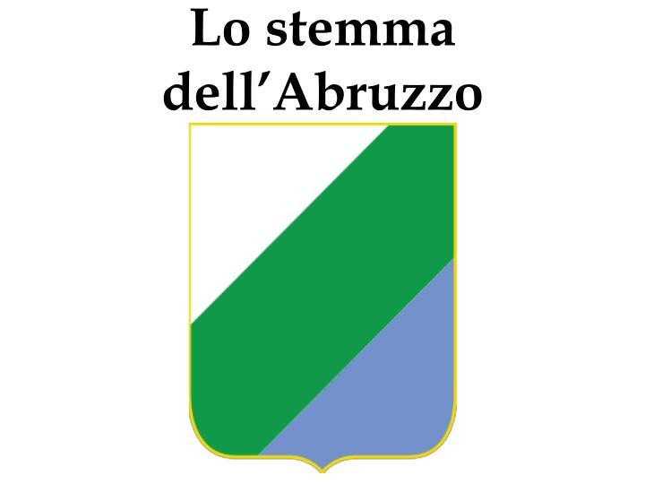 Lo stemma dell'Abruzzo