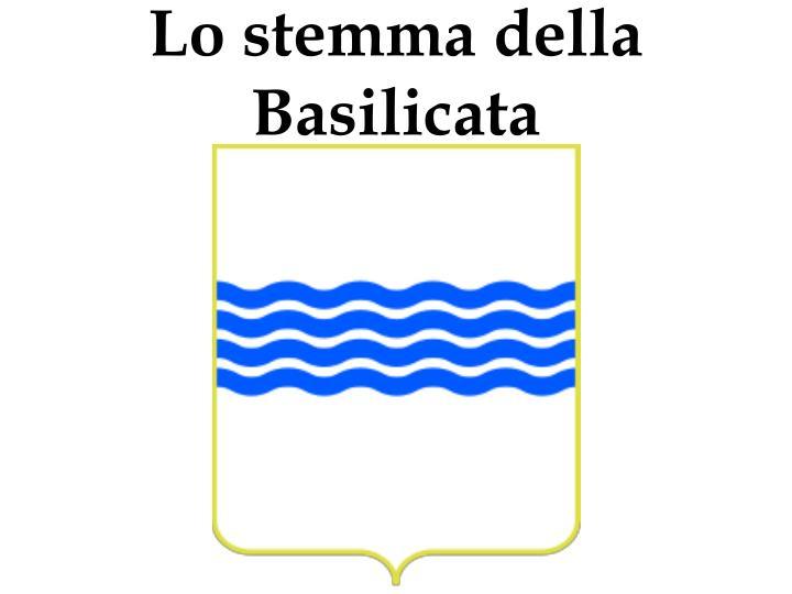 Lo stemma della Basilicata