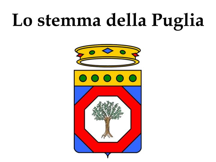 Lo stemma della Puglia