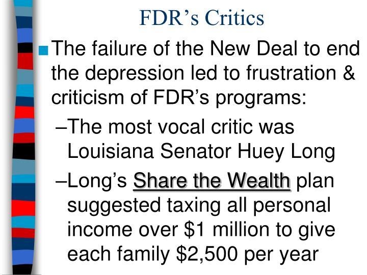 FDR's Critics