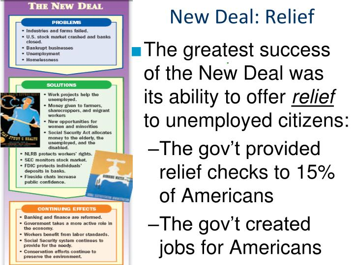 New Deal: Relief