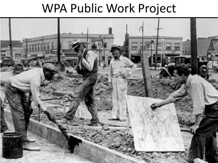 WPA Public Work Project