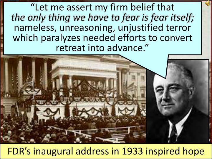 """""""Let me assert my firm belief that"""