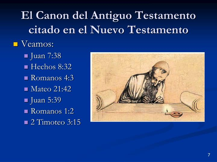 El Canon del Antiguo Testamento citado en el Nuevo Testamento