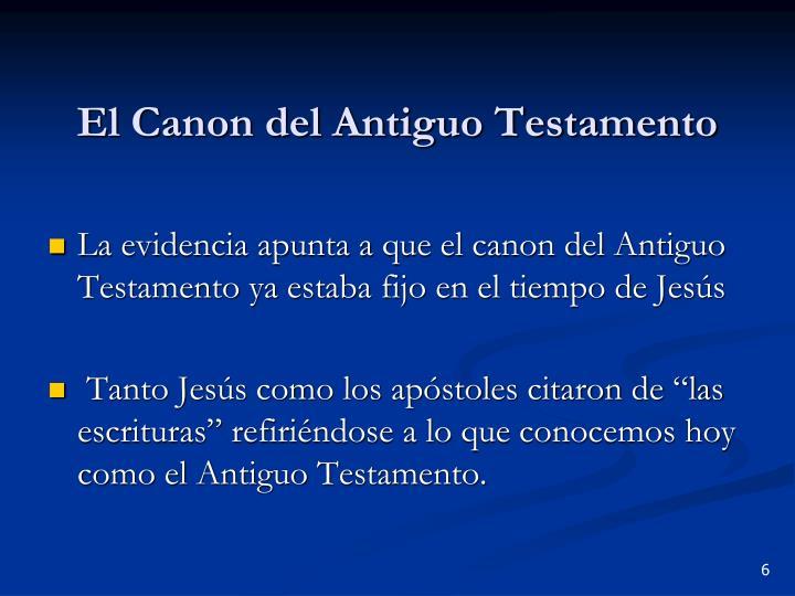 El Canon del Antiguo Testamento
