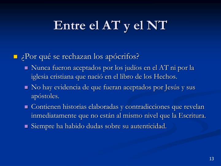 Entre el AT y el NT