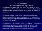 conclusiones evaluaci n post neoadyuvancia