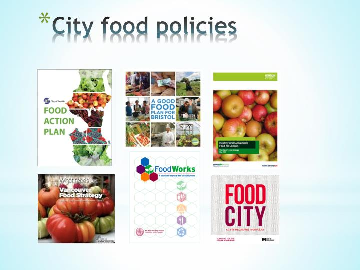 City food policies