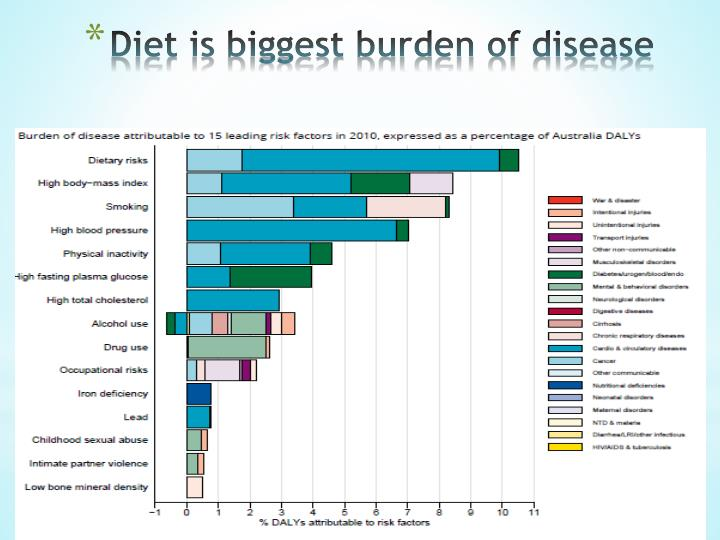 Diet is biggest burden of disease