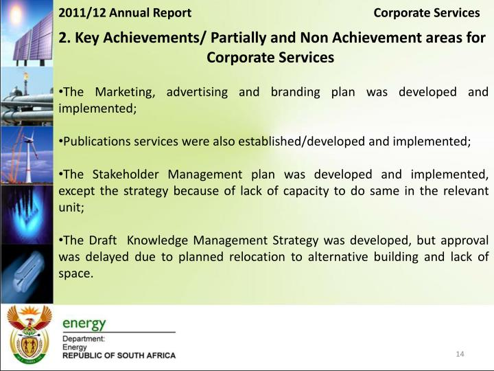 2011/12 Annual Report                                                           Corporate Services