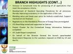 branch highlights cont
