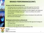 branch performance cont