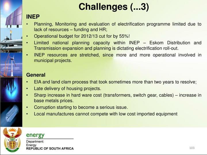 Challenges (...3)