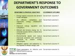 department s response to government outcomes