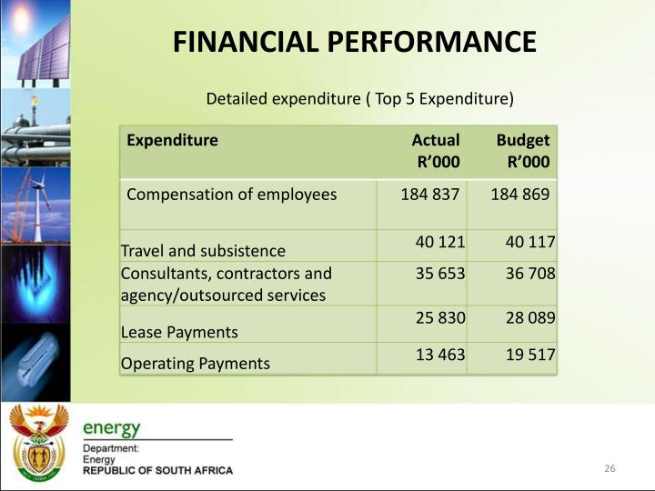 Detailed expenditure ( Top 5 Expenditure)