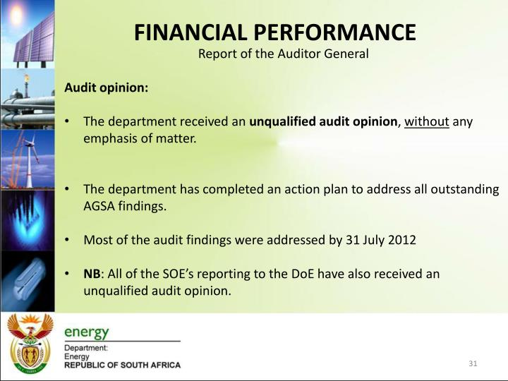 Report of the Auditor General