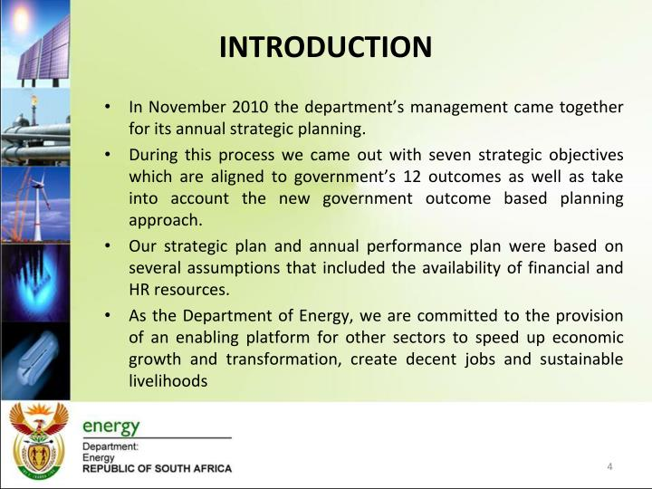 In November 2010 the department's management came together for its annual strategic planning.