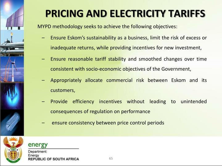 PRICING AND ELECTRICITY TARIFFS
