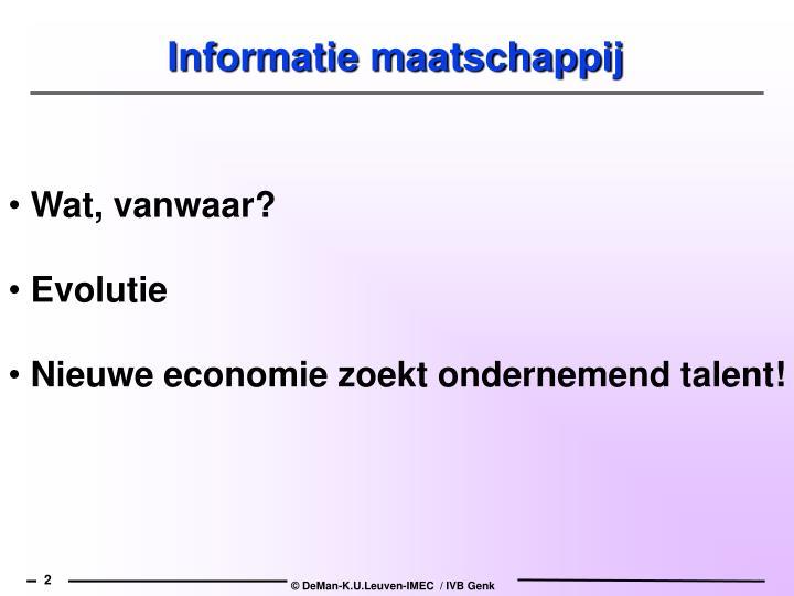 Informatie maatschappij