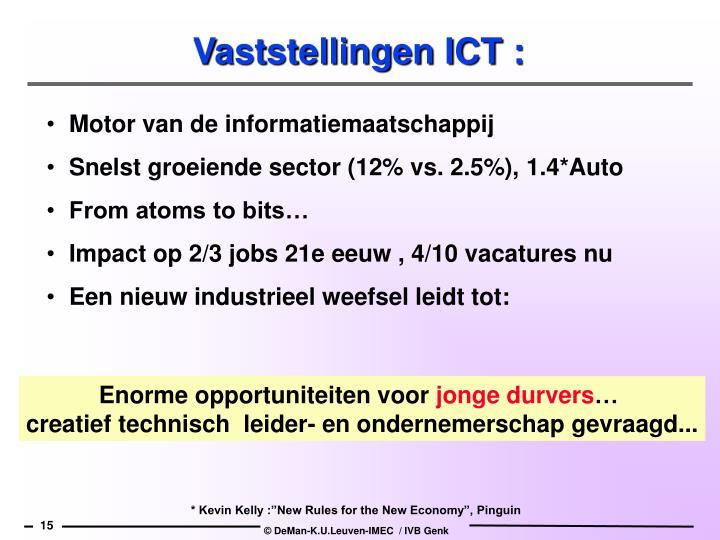 Vaststellingen ICT :