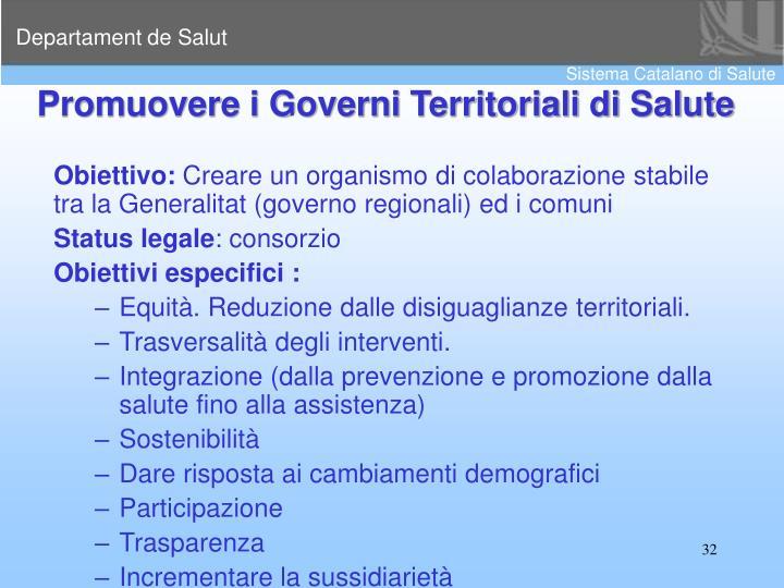 Promuovere i Governi Territoriali di Salute