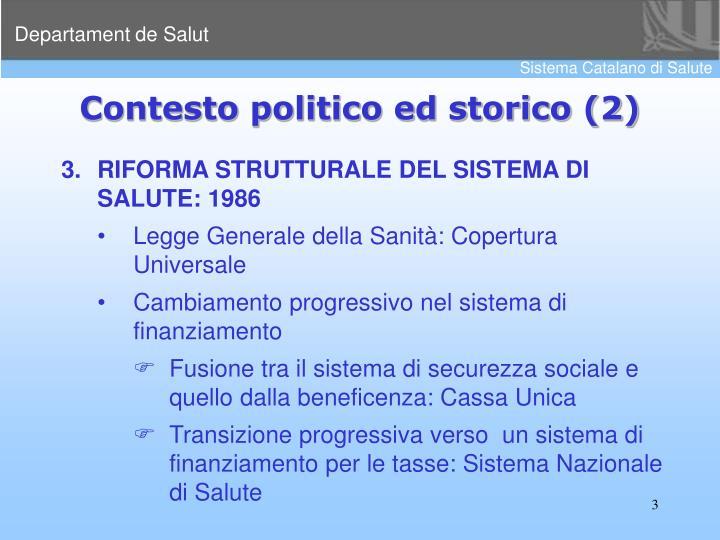 Contesto politico ed storico (2)