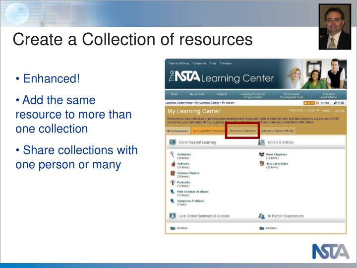 Create a Collection of resources