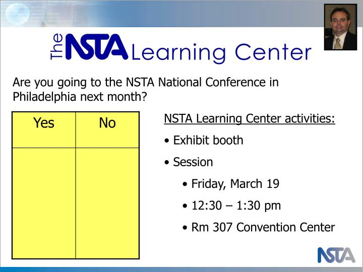 Are you going to the NSTA National Conference in Philadelphia next month?