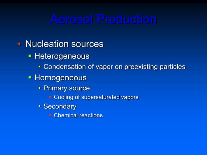 Aerosol Production