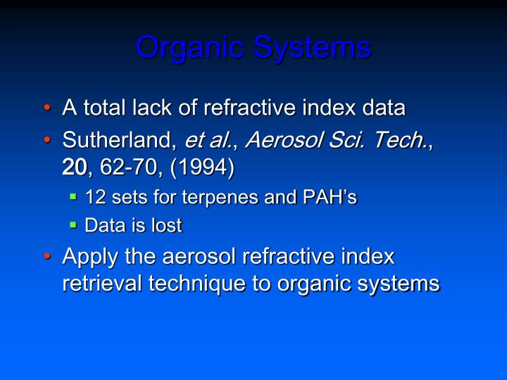 Organic Systems