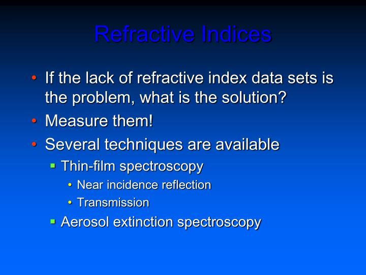Refractive Indices