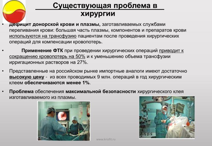 Существующая проблема в хирургии