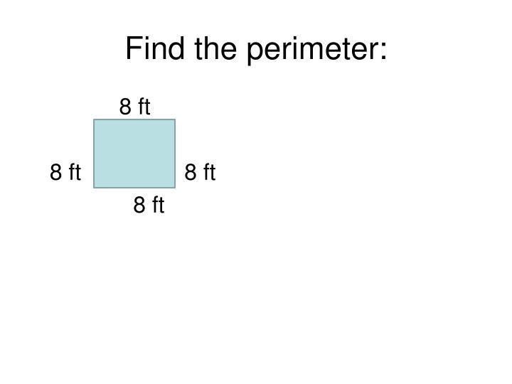 Find the perimeter: