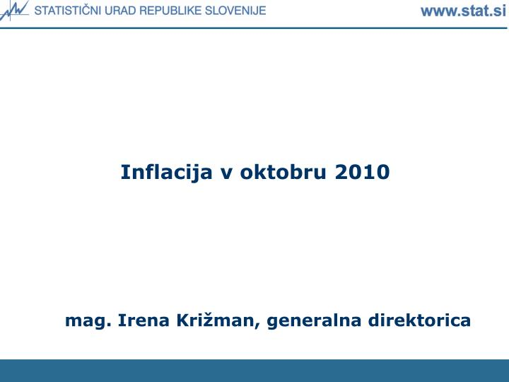 Inflacija v oktobru 2010