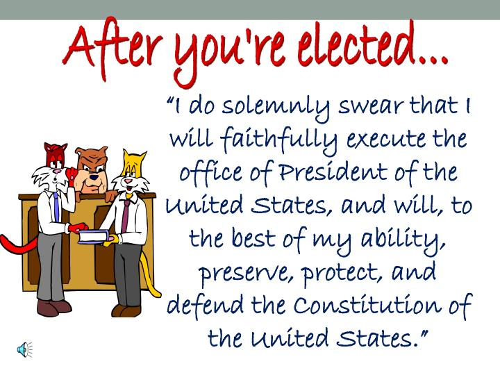 After you're elected...