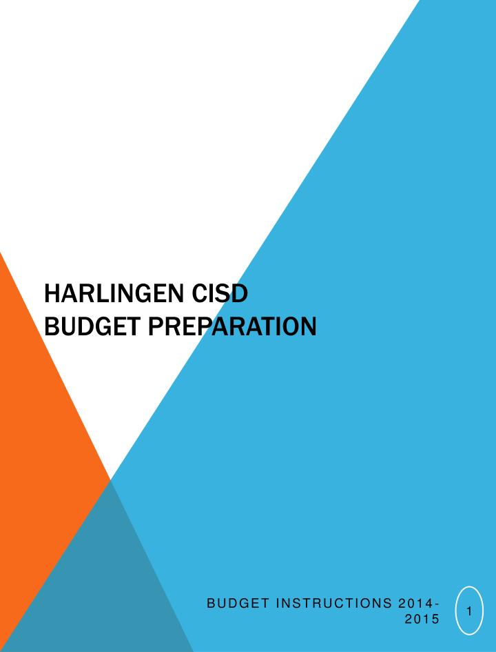 Harlingen cisd budget preparation
