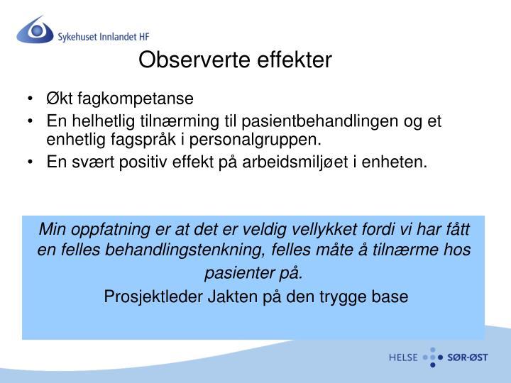 Observerte effekter