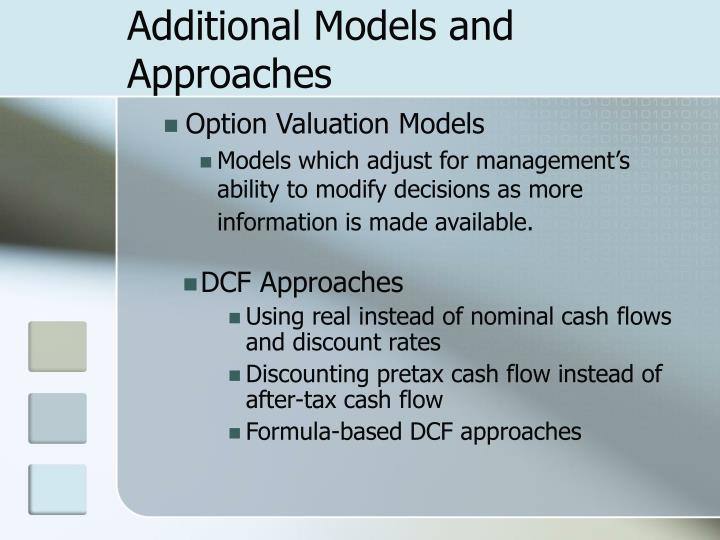Additional Models and Approaches