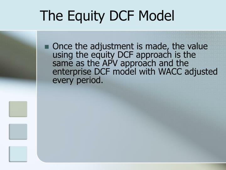 The Equity DCF Model