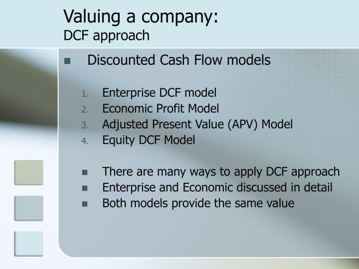 Valuing a company: