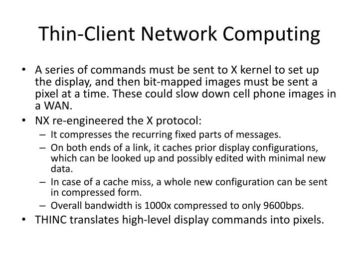 Thin-Client Network Computing