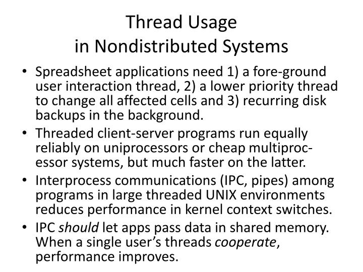 Thread Usage                                              in