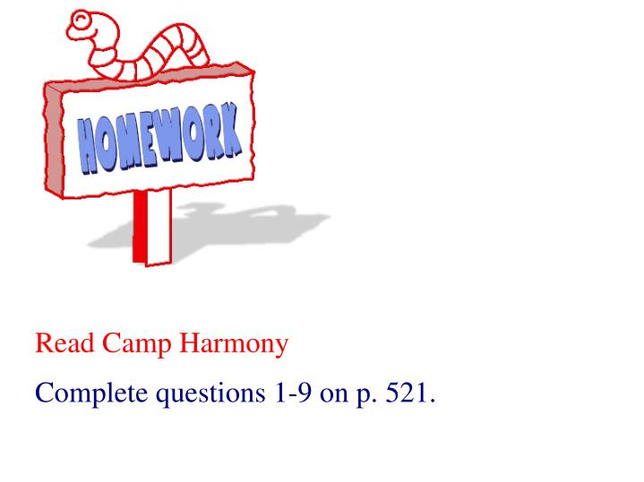 Read Camp Harmony